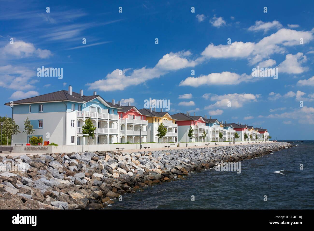 Holiday resort Weisse Wiek / Weiße Wiek at Boltenhagen, Mecklenburg-Vorpommern, Germany - Stock Image