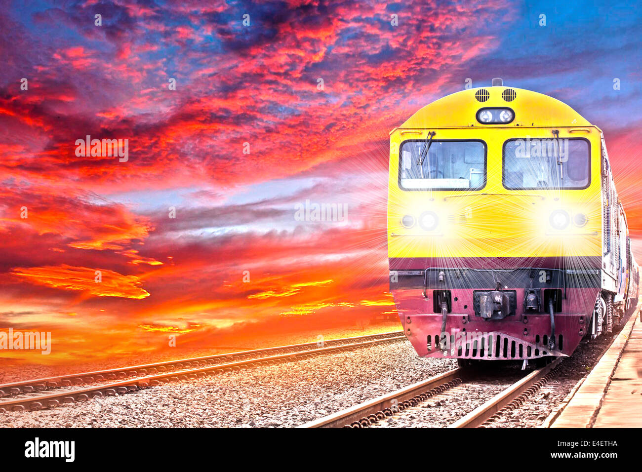 way, delivery, shipping, logistic, wagon, loading, rail, derailed, freight, train, transport, cargo, industrial, - Stock Image