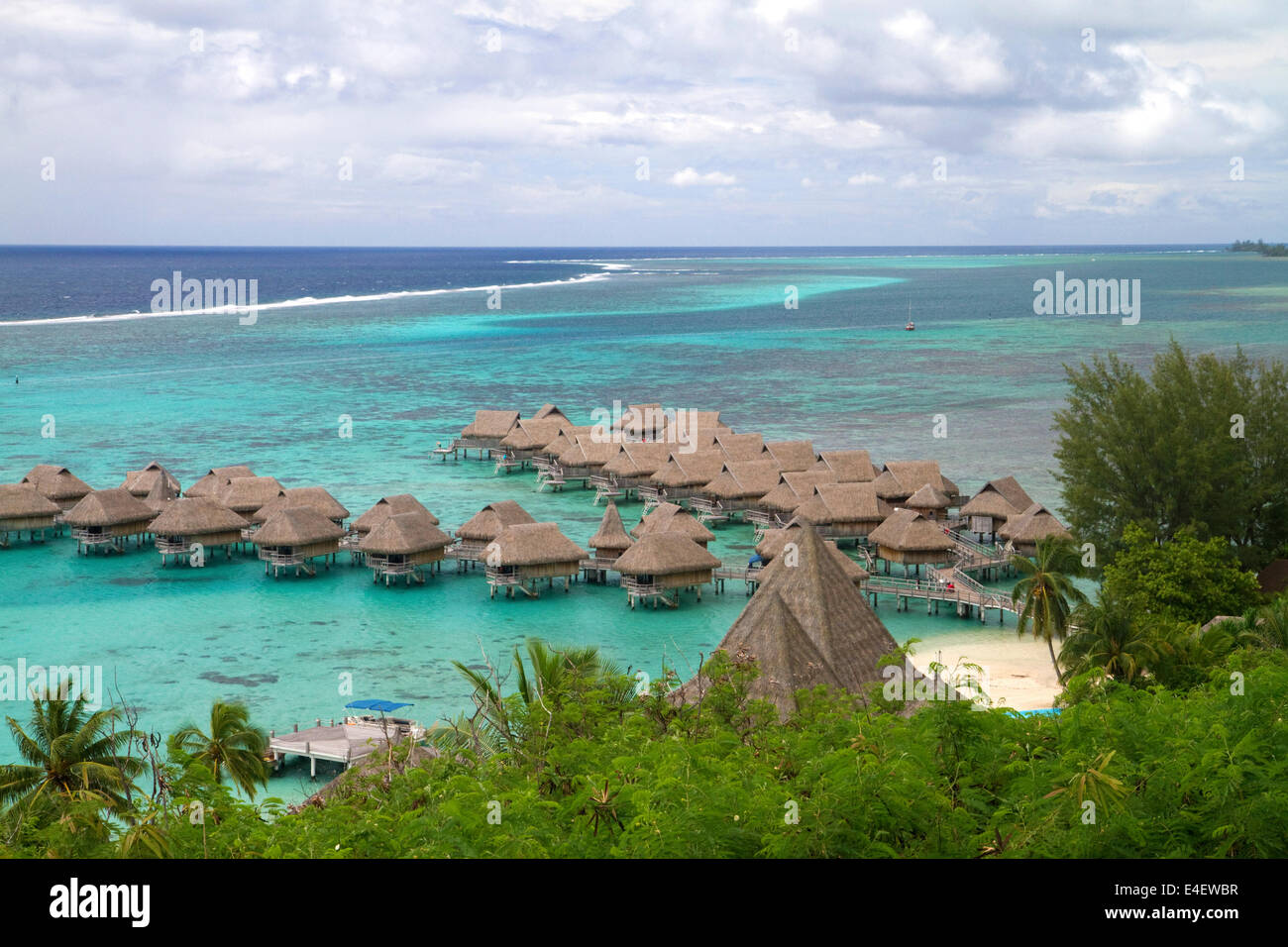 Thatched Roof Lagoon Bungalows At Sofitel Moorea Ia Ora