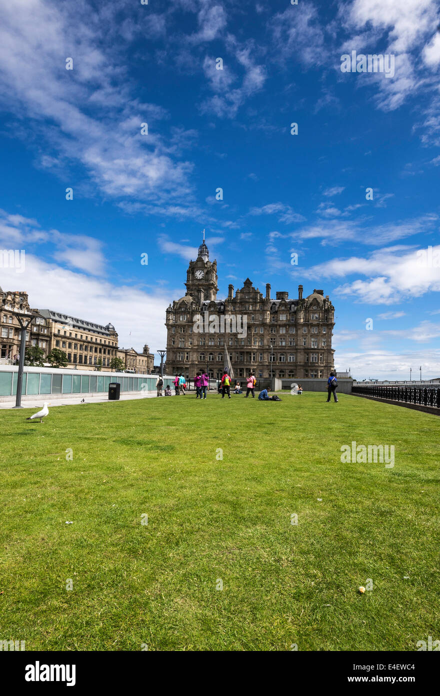 Balmoral Hotel from Princes Mall roof - Stock Image