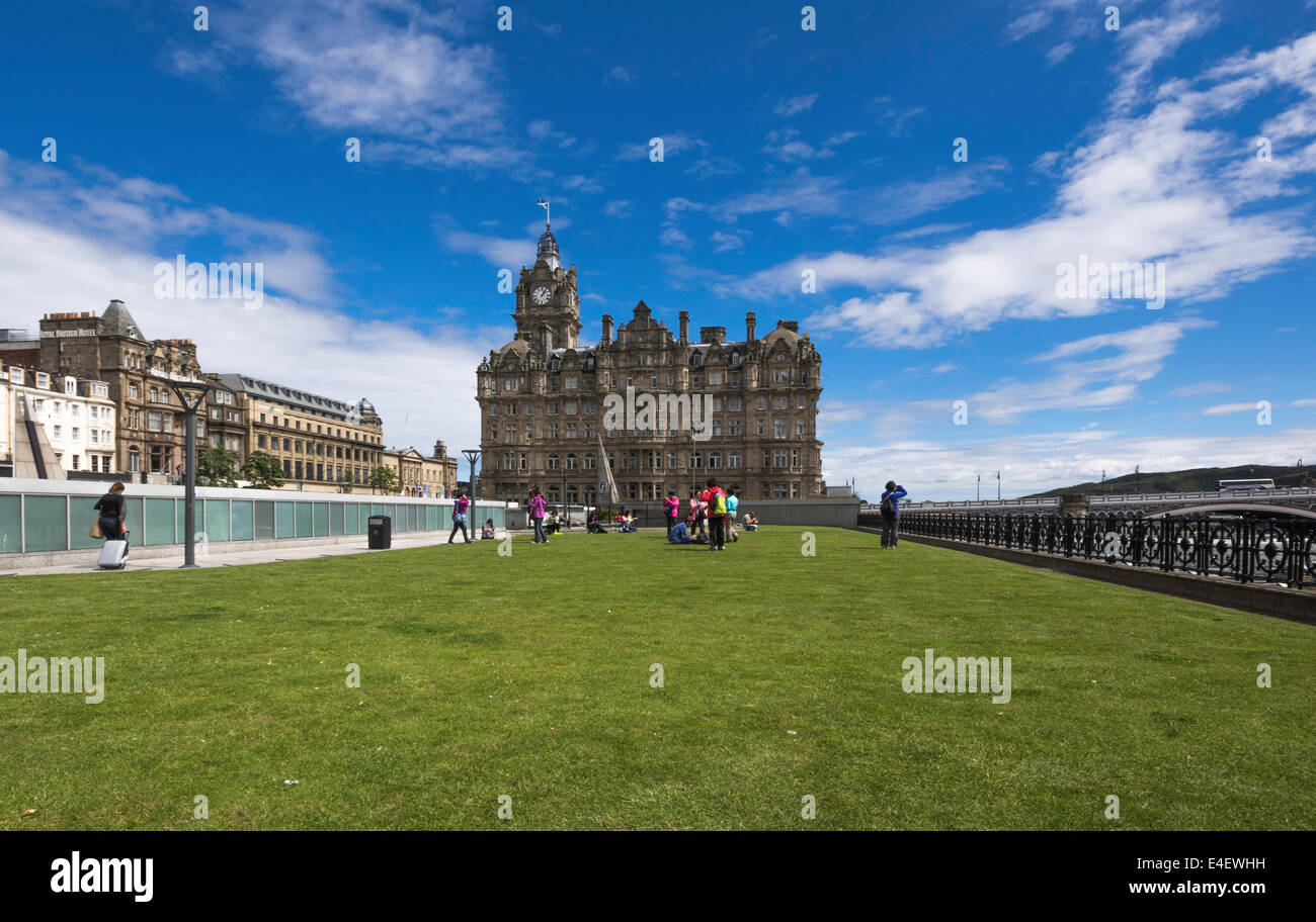 Balmoral Hotel as seen from Princes Mall roof - Stock Image