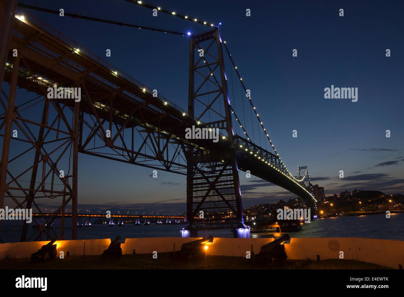 iron bridge Santa Catarina Florianopolis - Stock Image