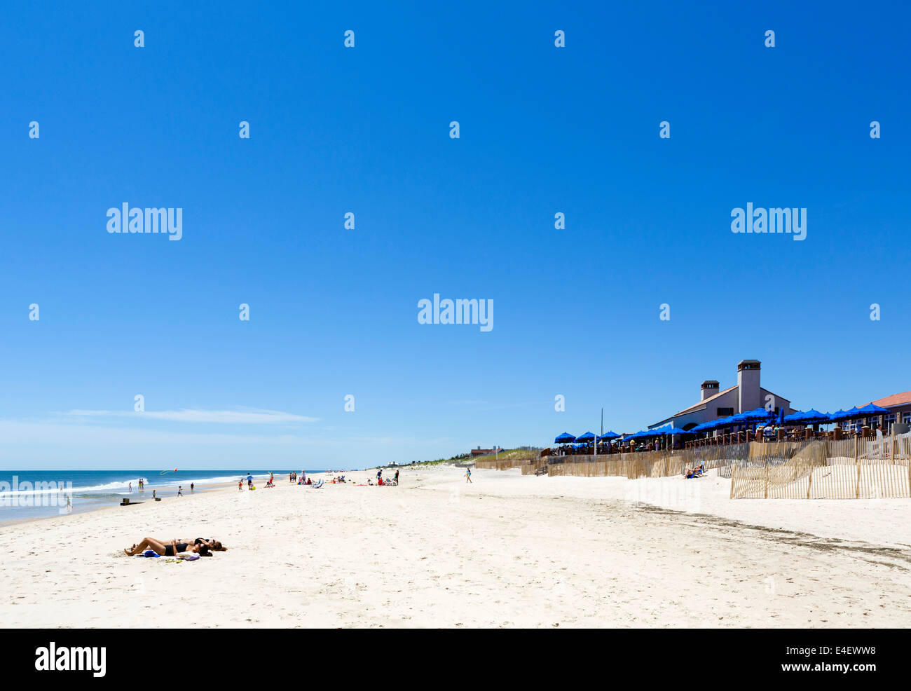 Beach at Southampton, The Hamptons, Suffolk County, Long Island , NY, USA - Stock Image