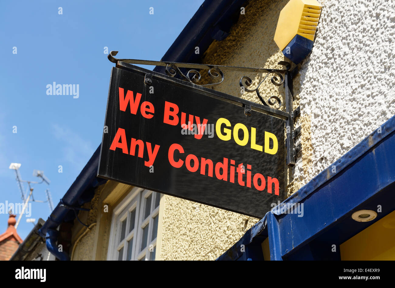 We Buy Gold - Any Condition - Stock Image