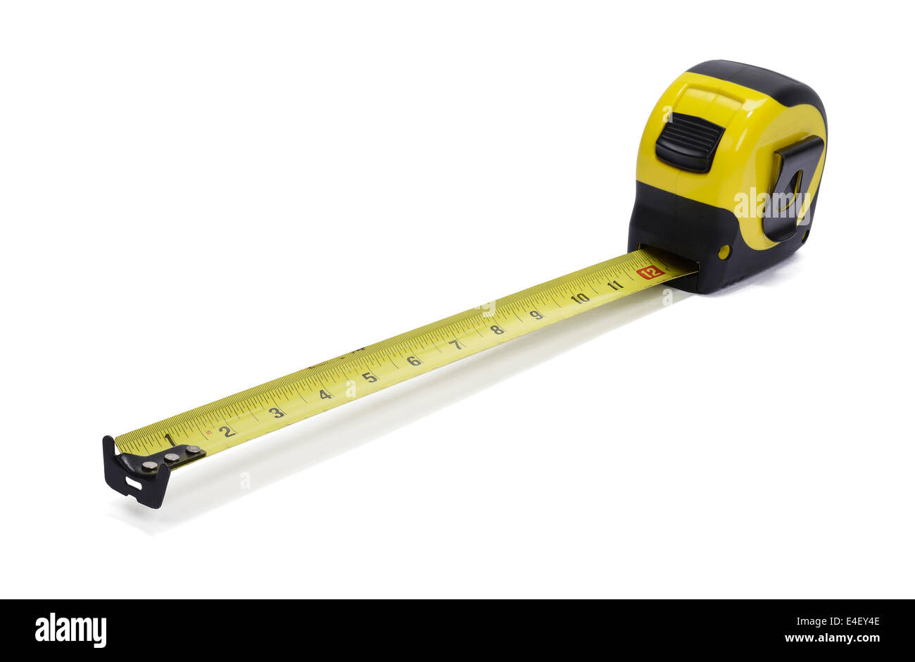 Yellow tape measure - Stock Image