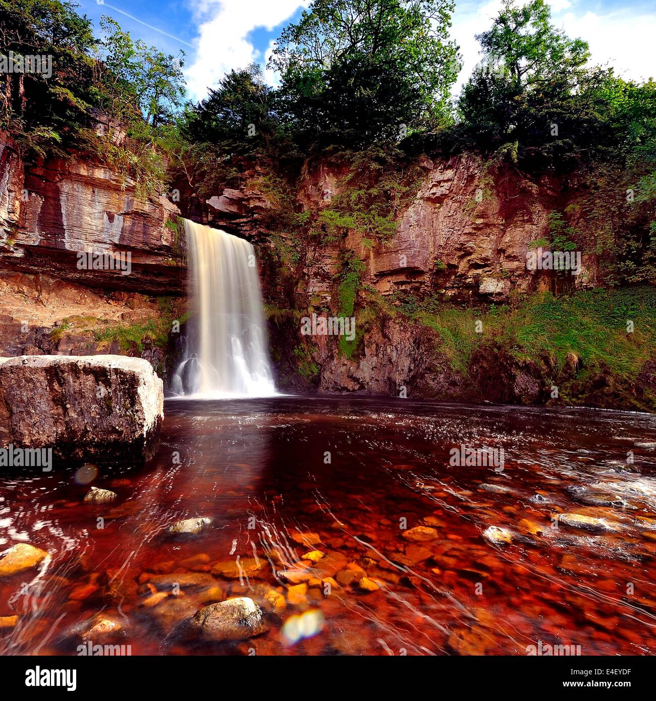 Thronton Force falls, Ingleton - Stock Image