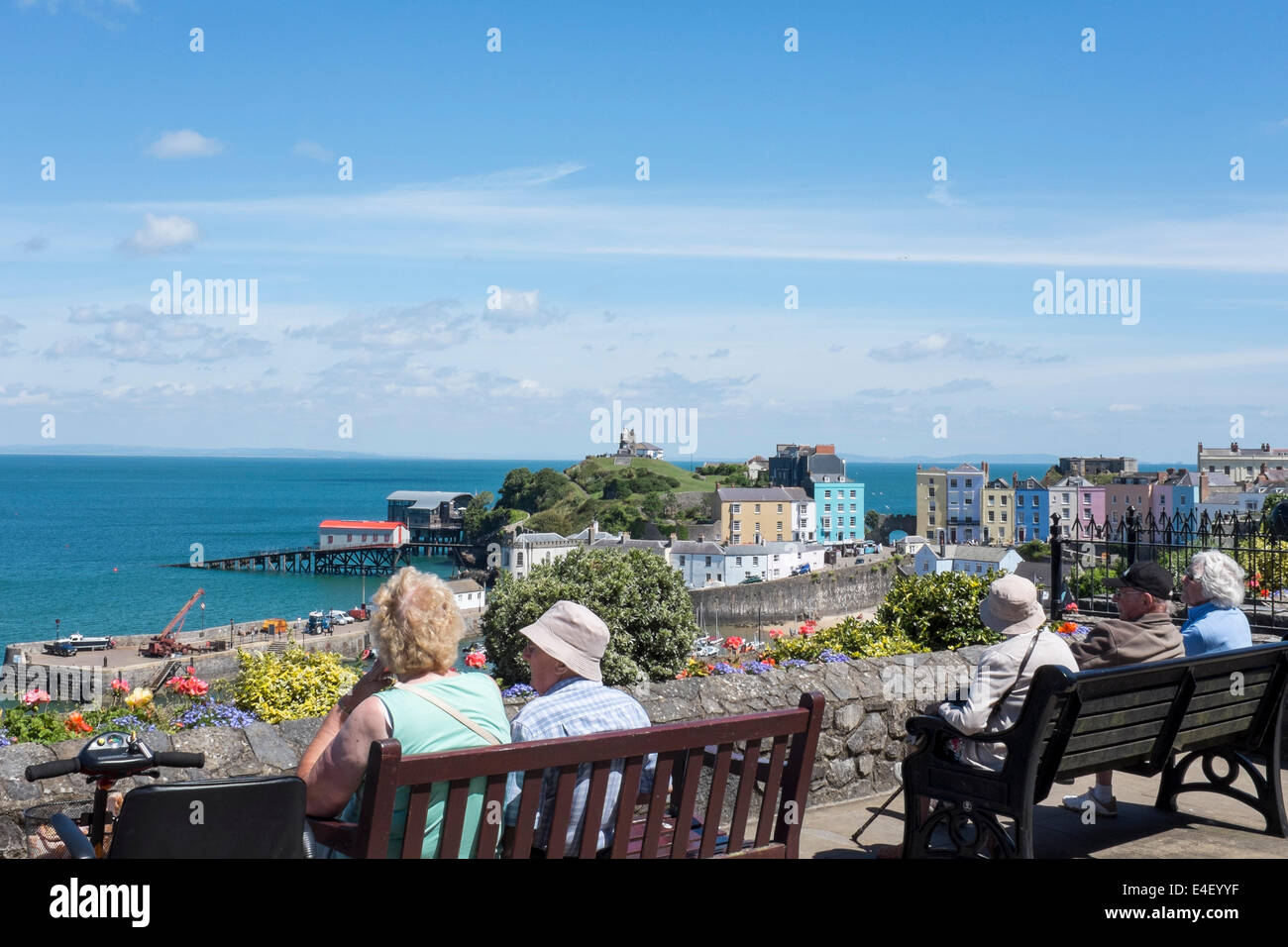 Pensioners enjoy the view - Stock Image