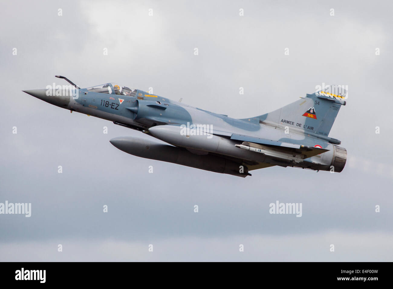 French Air Force Mirage 2000C of test unit CEAM330 during the NATO Tiger Meet 2014, Jagel, Germany. - Stock Image