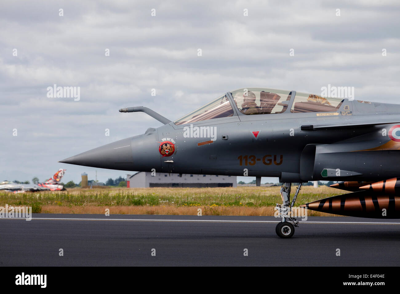 French Air Force Rafale jet during the NATO Tiger Meet 2014, Jagel, Germany. - Stock Image