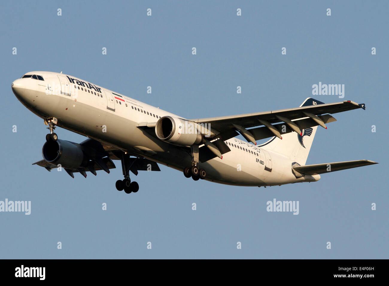 Airbus A310 of Iran Air. - Stock Image