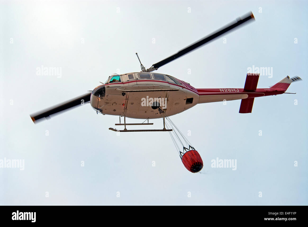 Fire fighter helicopter, USA - Stock Image