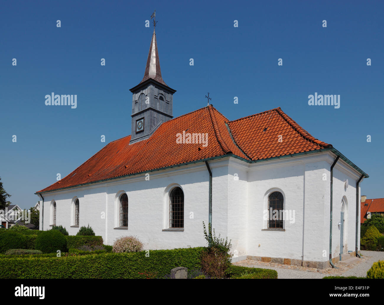 Hornbæk Church or Hornbaek Church, North Zealand, Denmark - Stock Image