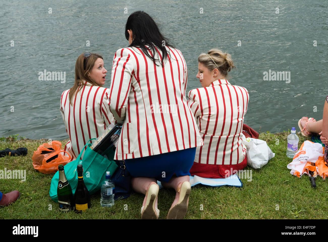 Women wearing rowing blazers Henley on Thames Royal Regatta
