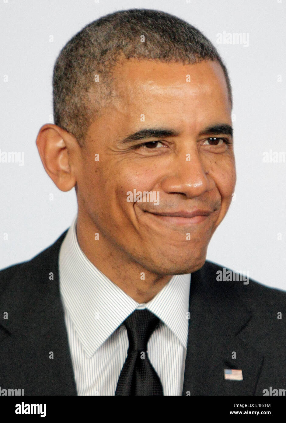 US President, barack obama at G7 SUMMIT IN BRUSSELS BELGIUM 2014 - Stock Image