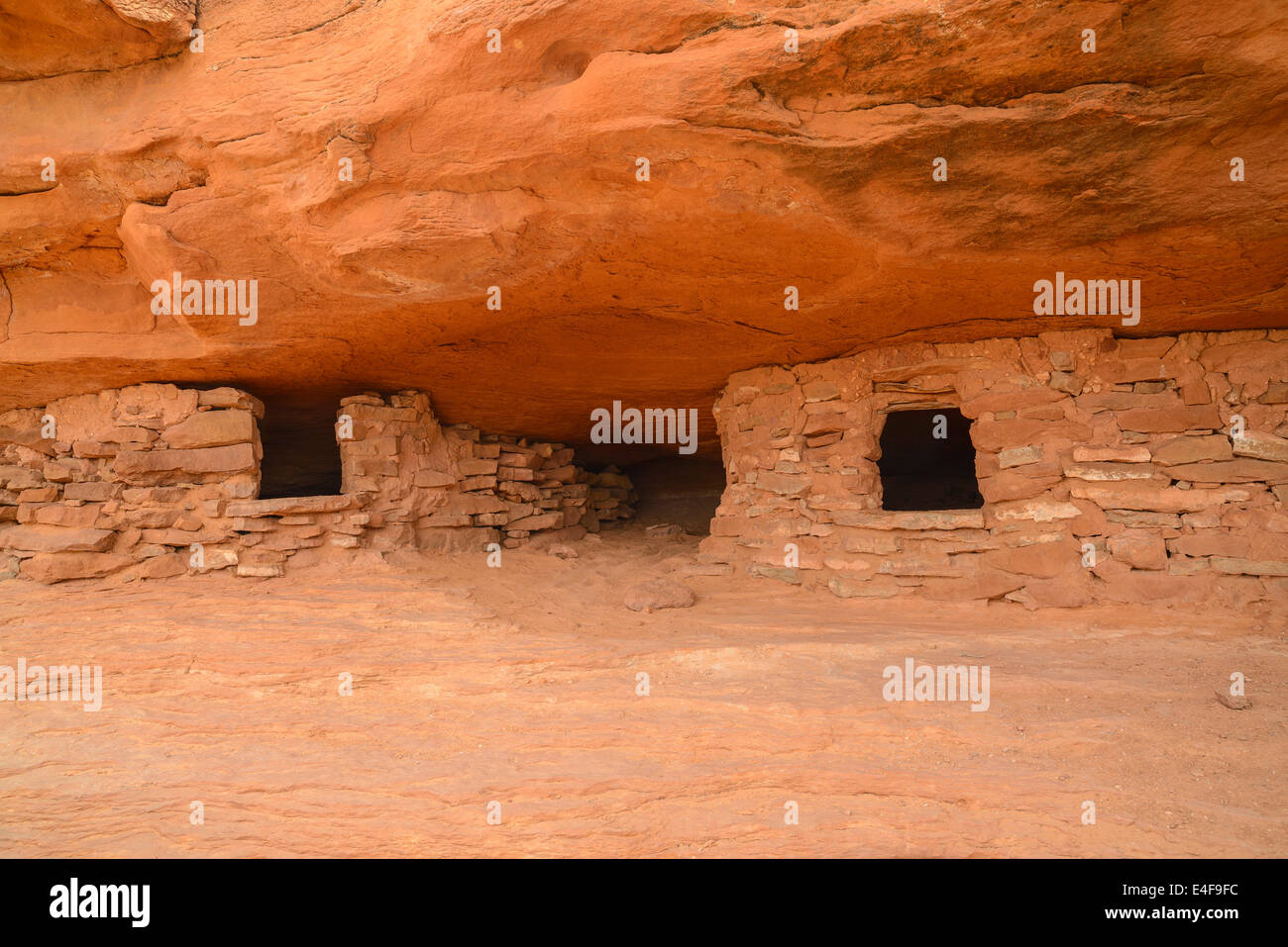 Ancient Indian Granary, Aztec Butte, Canyonlands National Park, Islands in the Sky, Utah, USA - Stock Image