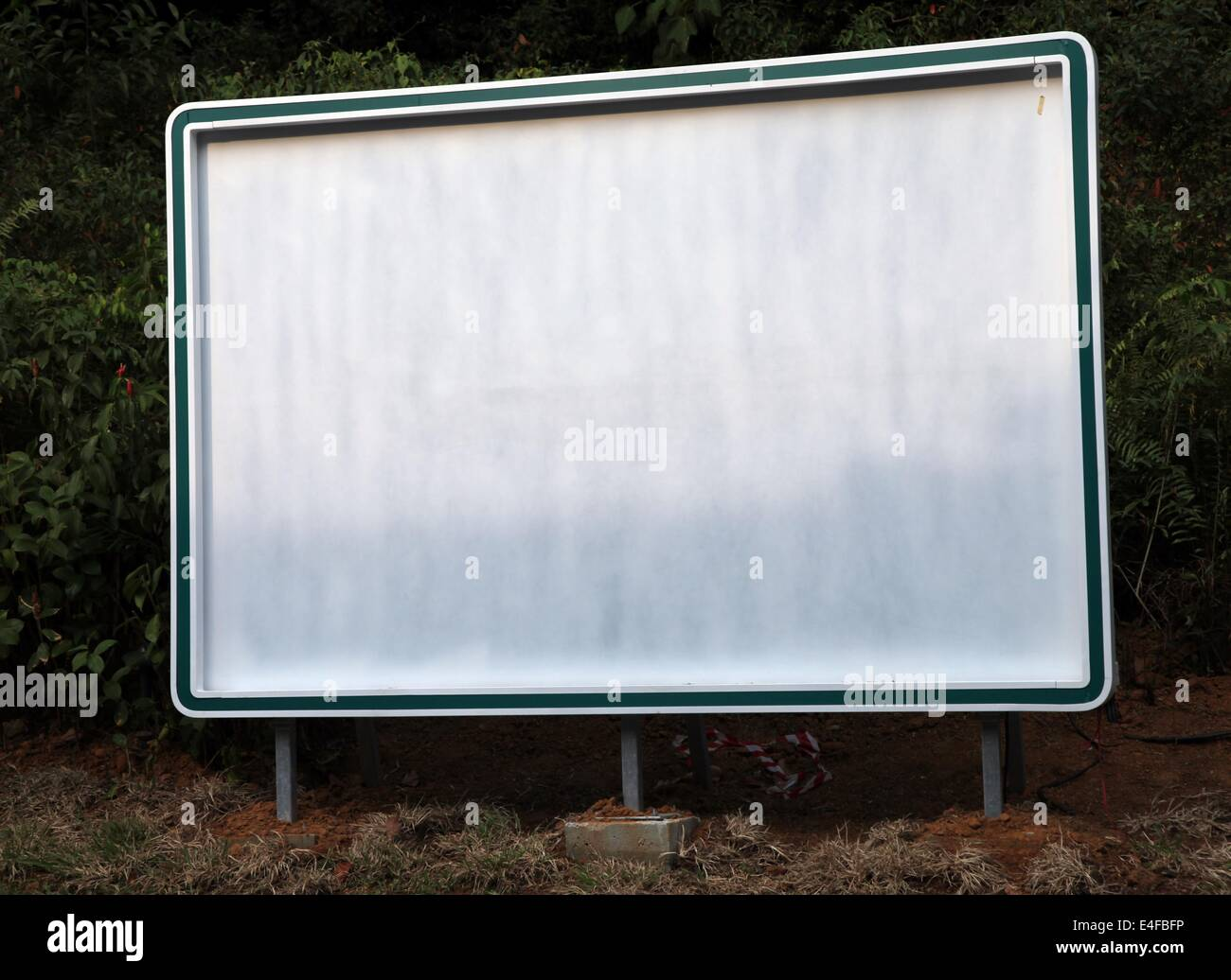 ir s a photo of an empty outdoor poster board it s a large blank