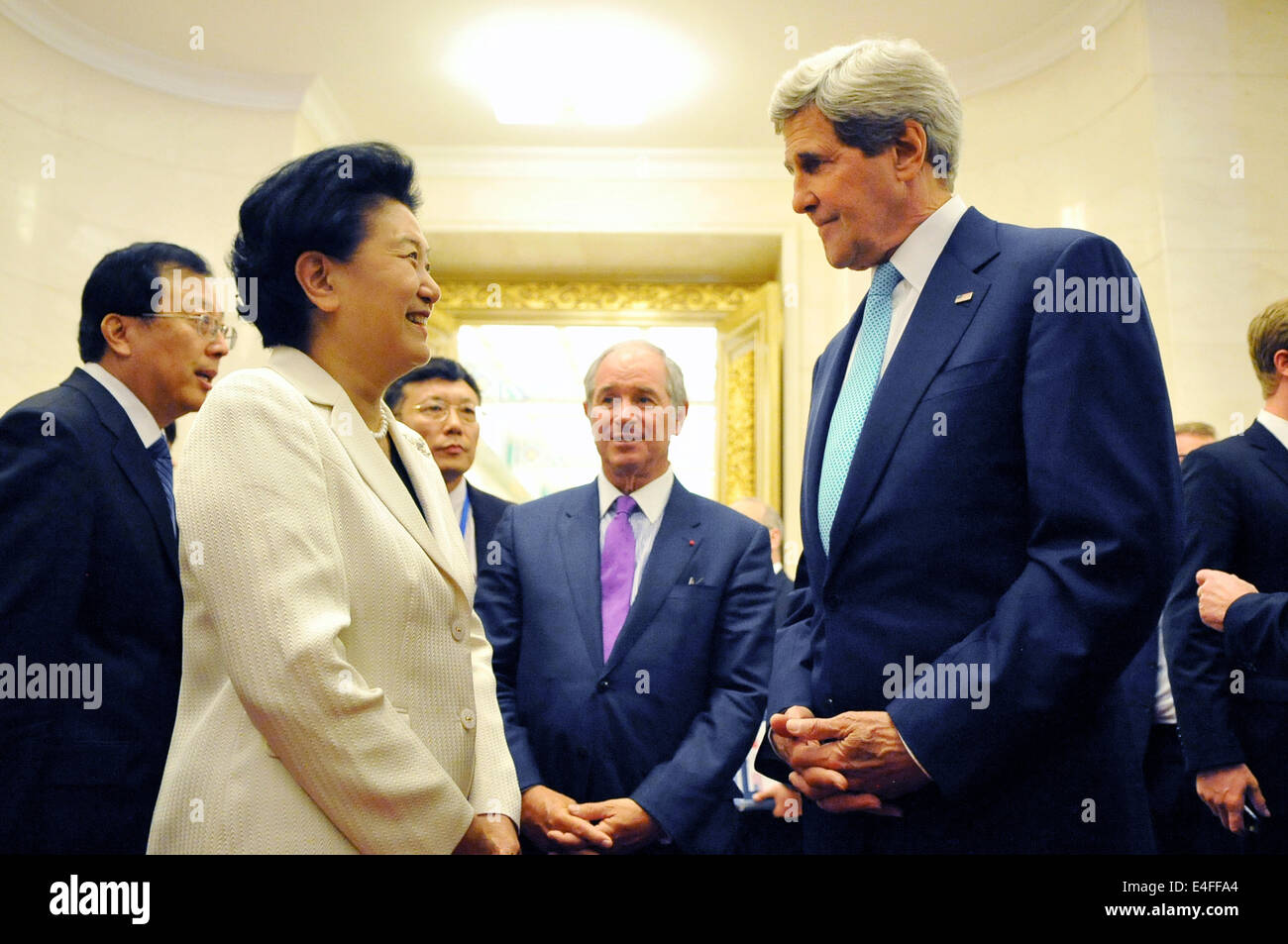 aec28215807018 US Secretary of State John Kerry meets with Chinese Vice Premier Liu Yandong  at the Great