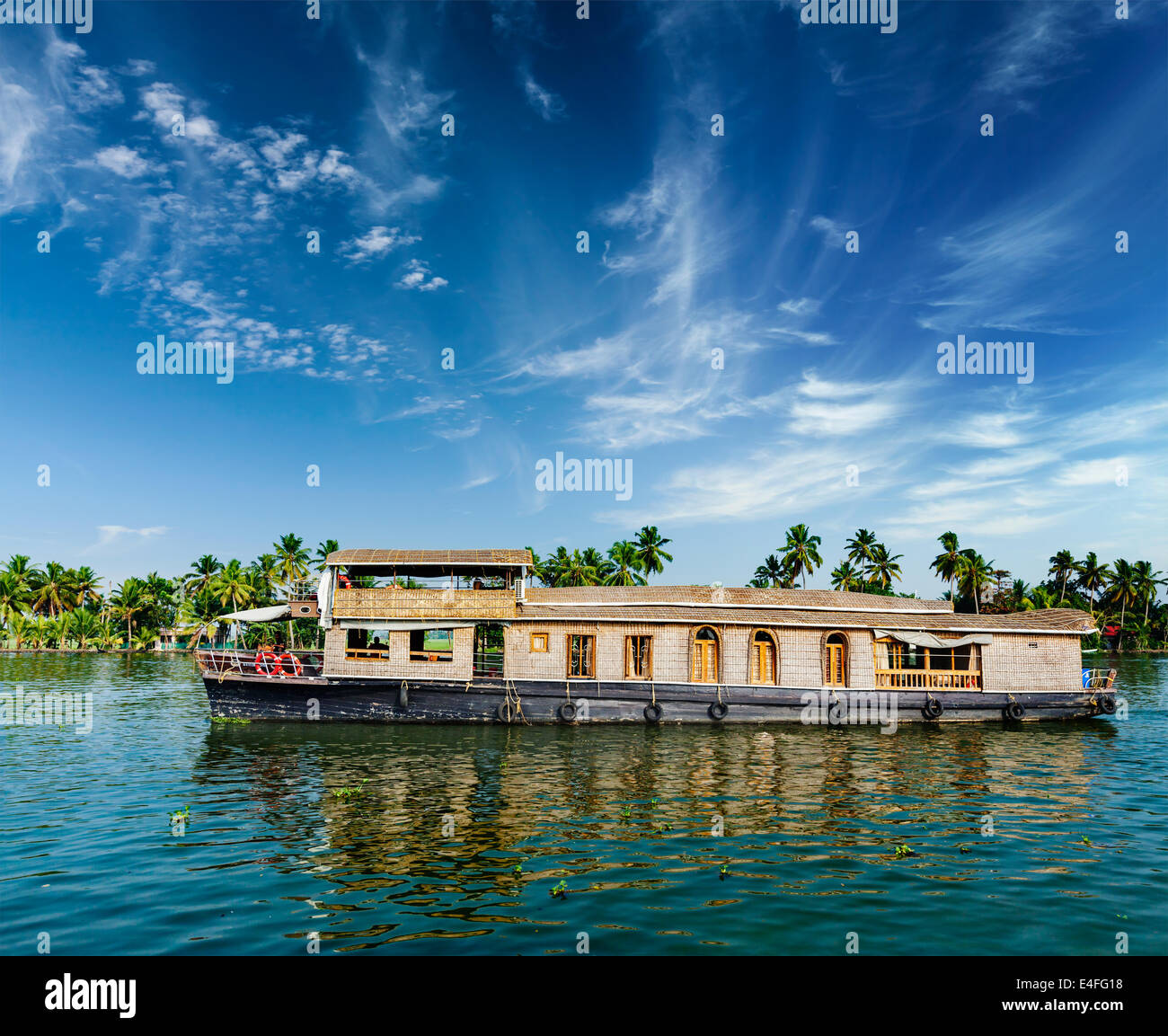 South India House Boat Stock Photos & South India House