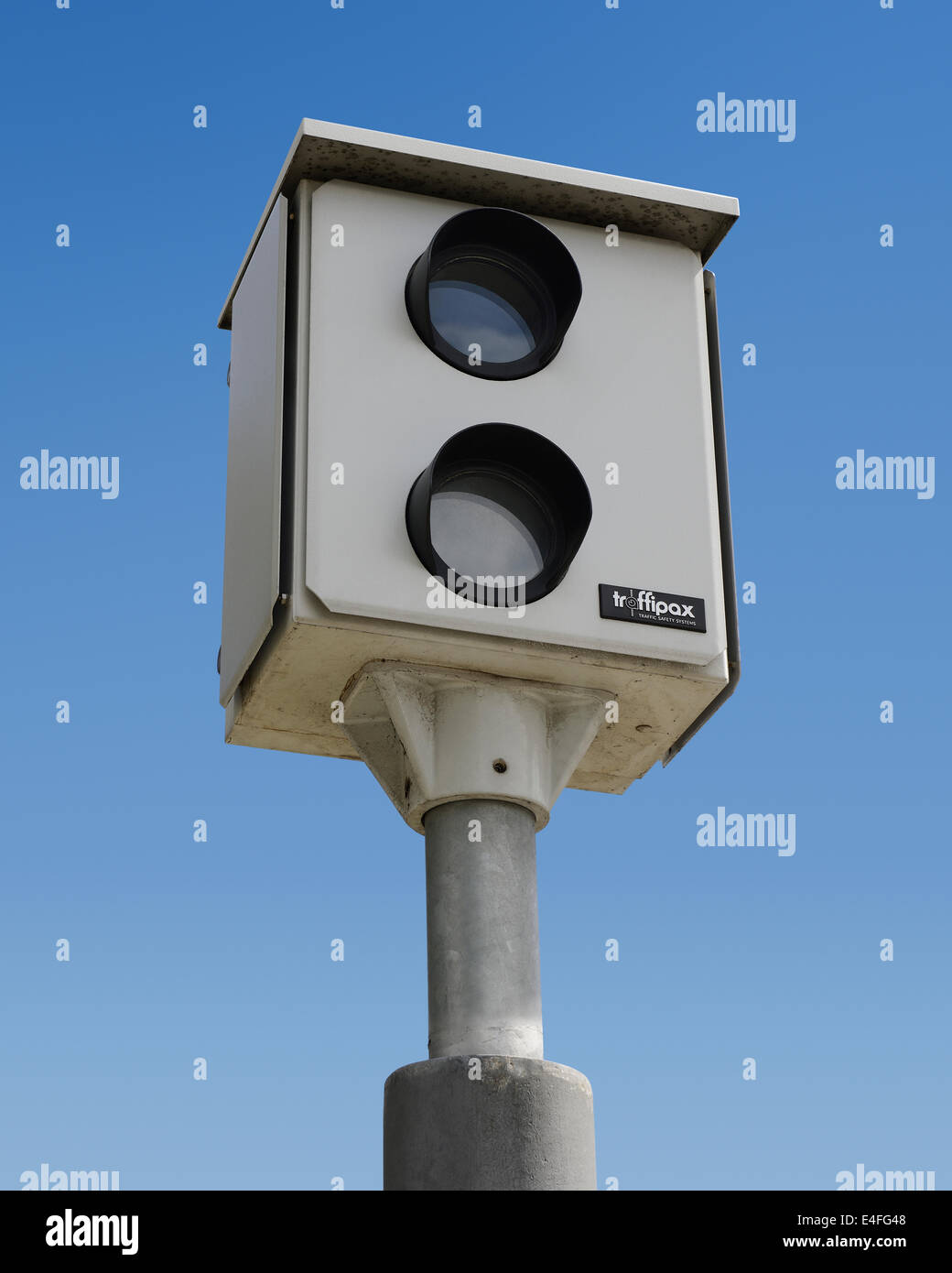 Speed Camera. Traffipax Speed Control Camera. Stock Photo
