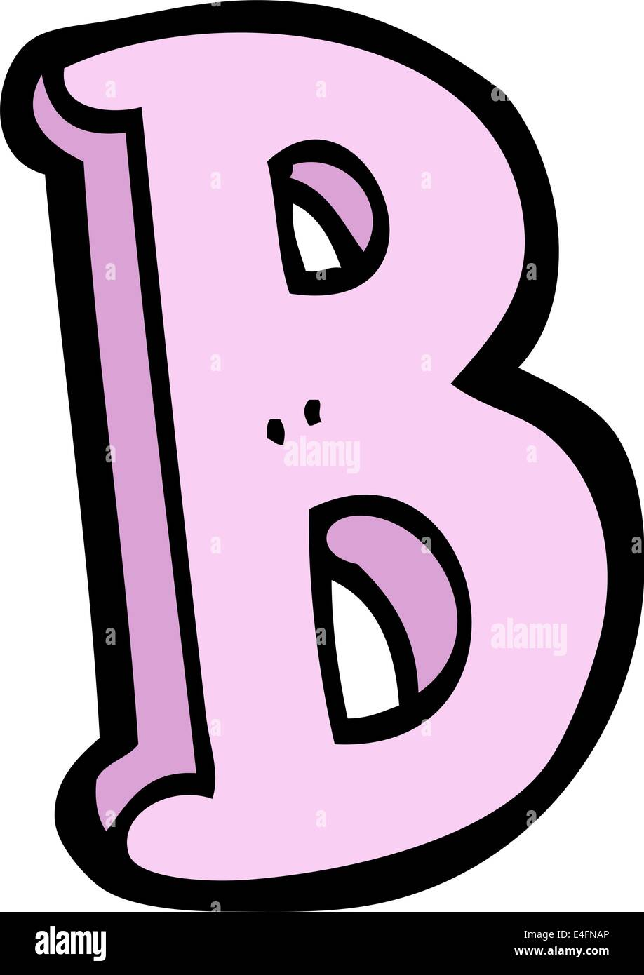 cartoon letter B Stock Vector Art & Illustration, Vector Image ...
