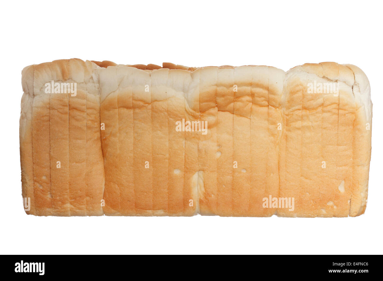 Photography of bread isolated on white background - Stock Image