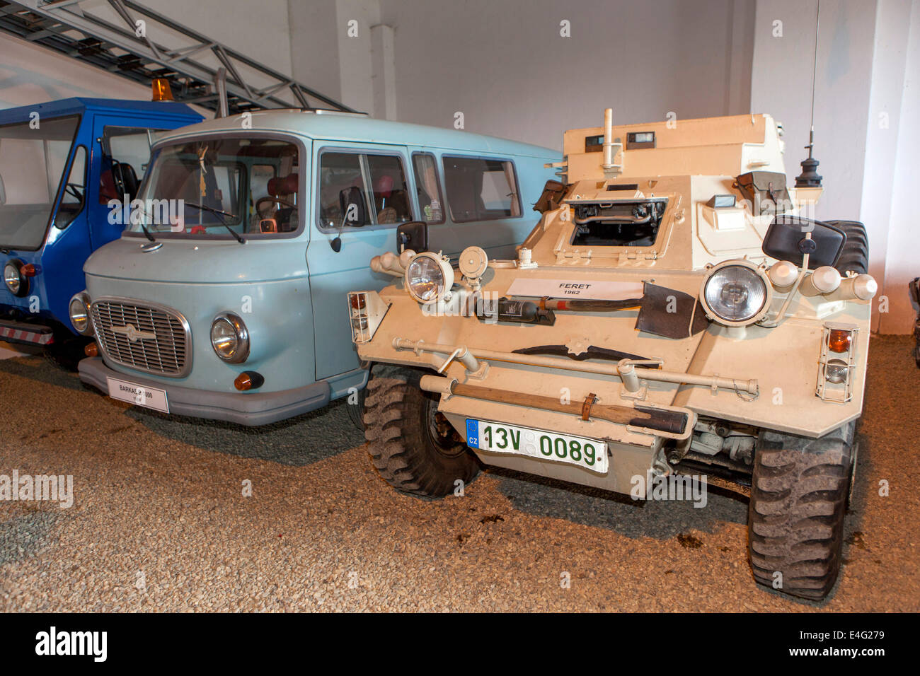 Auto car museum of old cars, nearby at Terezin Small Fortress, Czech ...