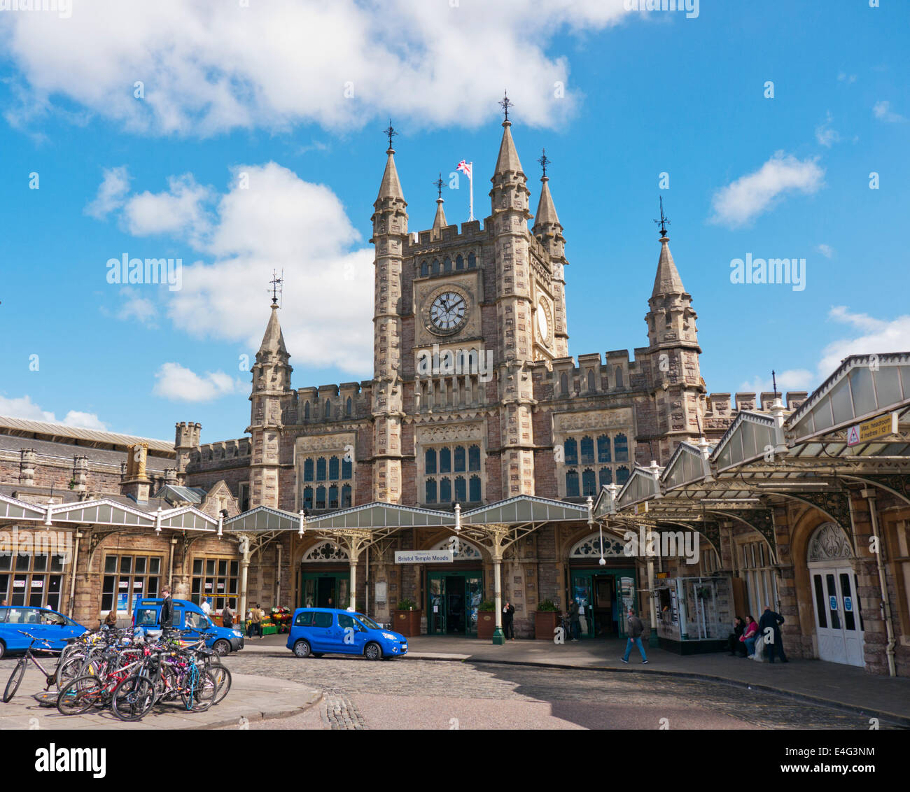 Bristol Temple Meads railway station in Britain Stock Photo