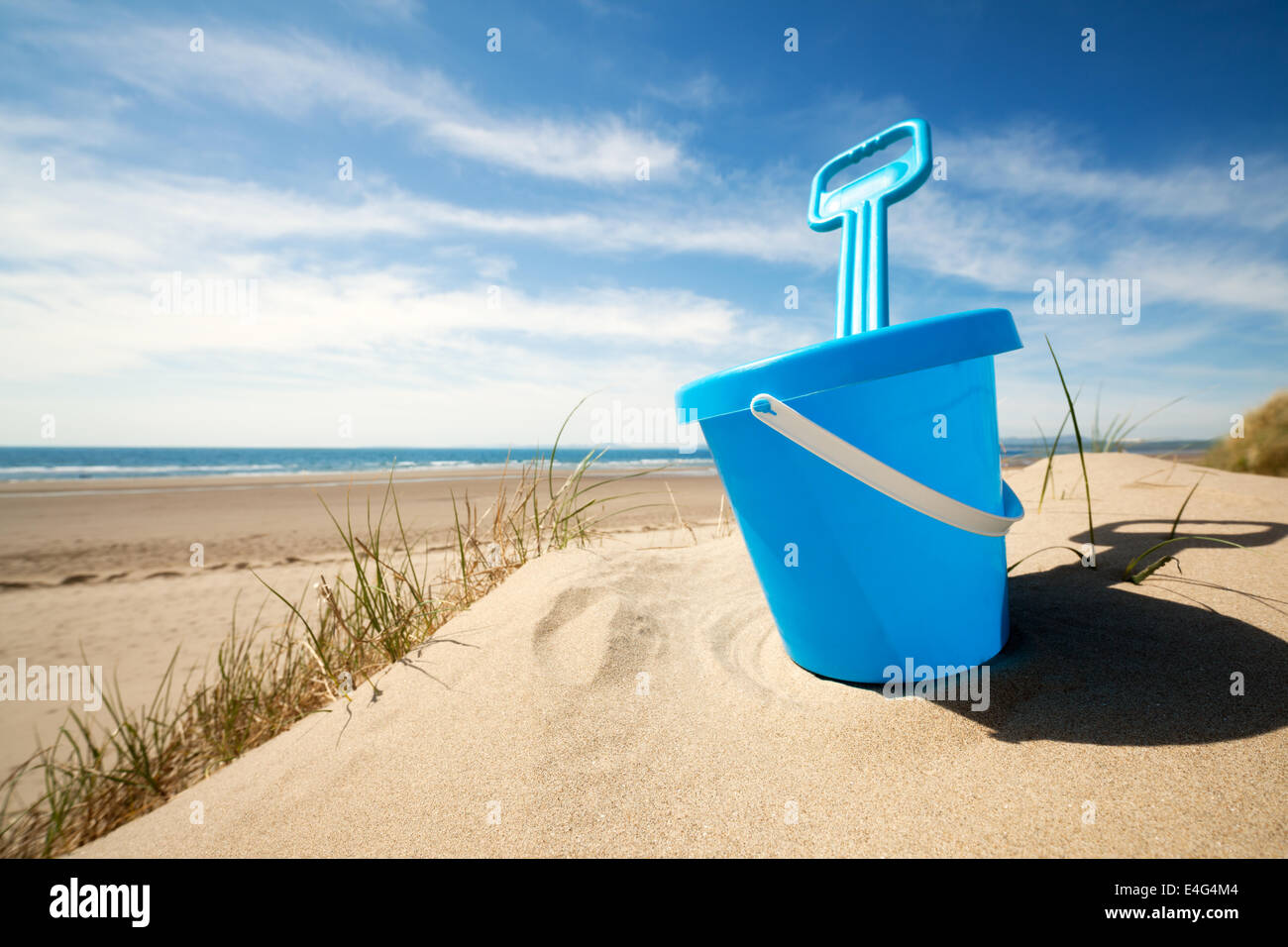 Beach bucket and spade - Stock Image
