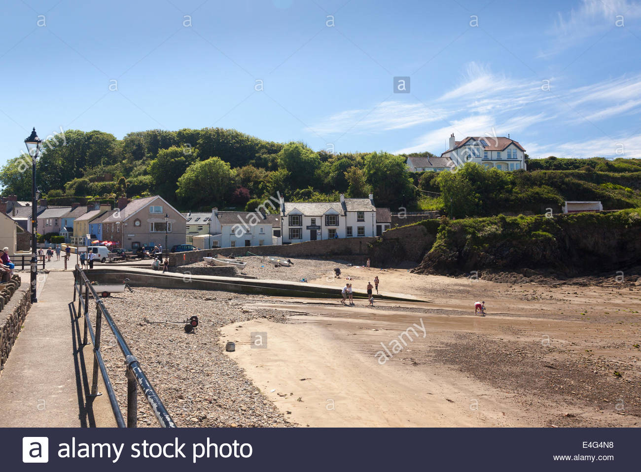 Seafront Little Haven Pembrokeshire Wales Britain UK - Stock Image