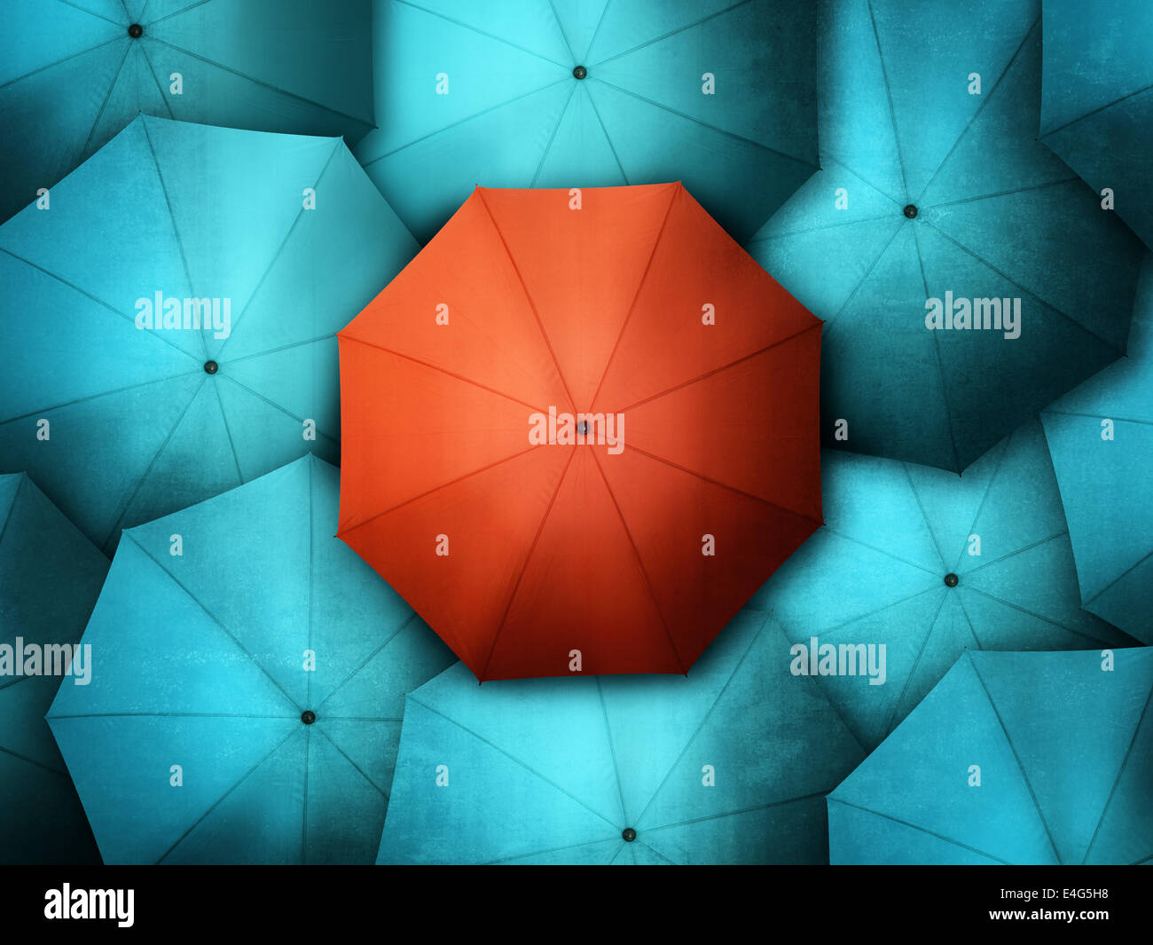 Standing out from the crowd - Stock Image