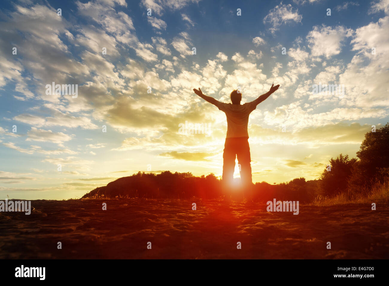 Worship and praise - Stock Image