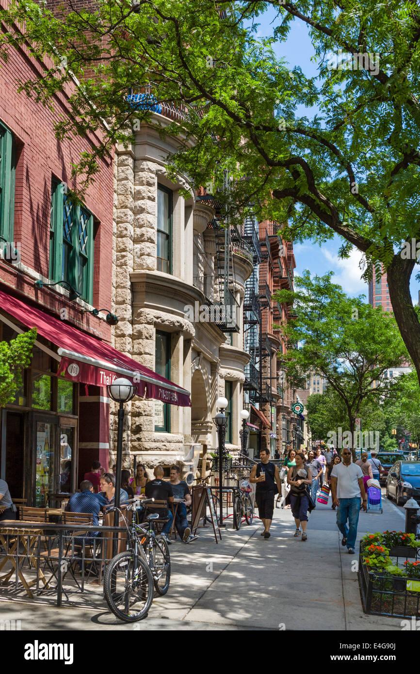 Brooklyn, New York. Restaurant on Montague Street in Brooklyn Heights, Brooklyn, New York City, NY, USA - Stock Image