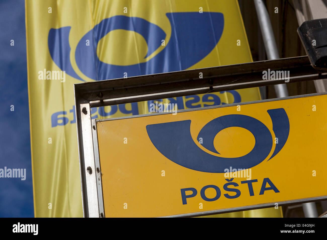 Ceska posta, Czech Post logo - Stock Image