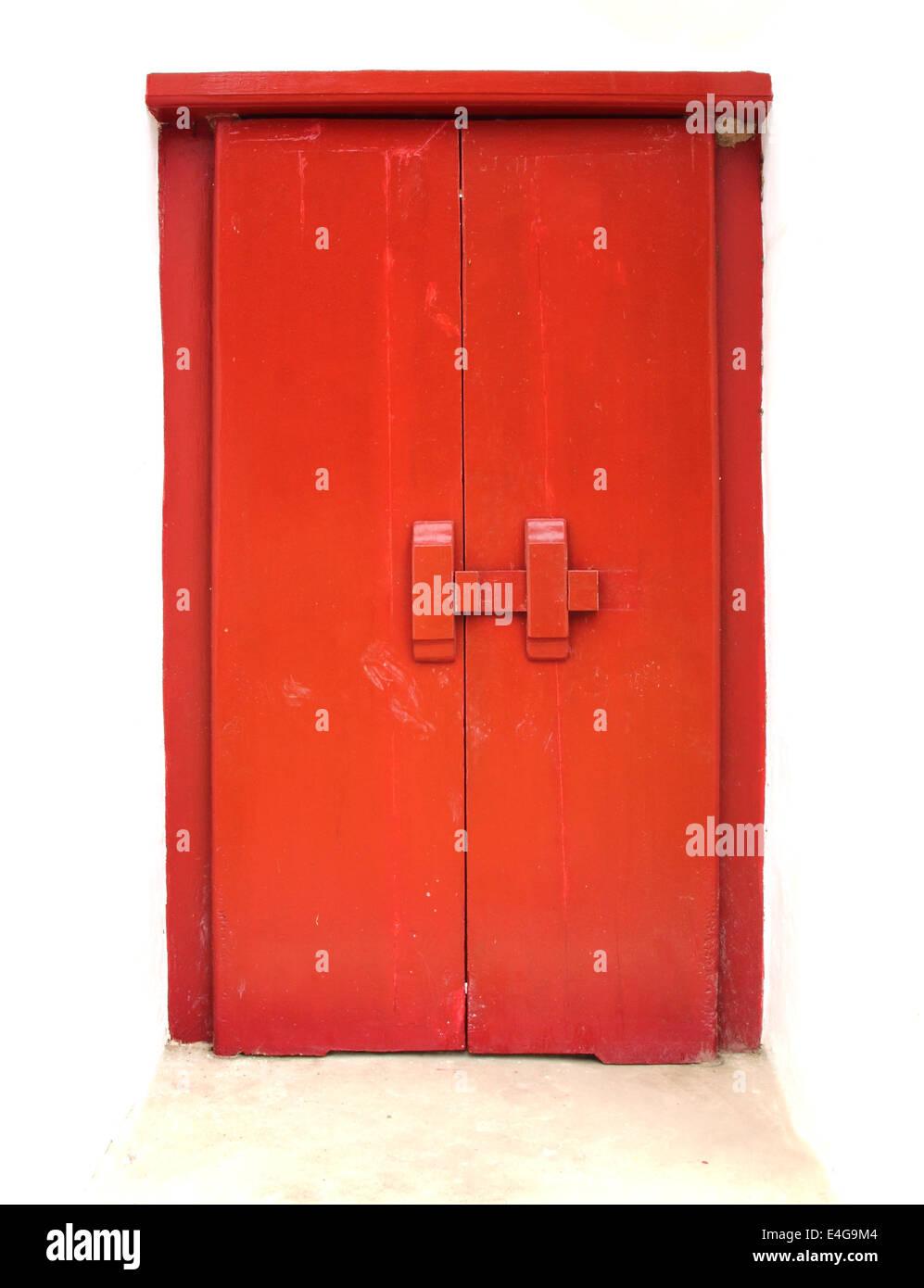 old red door , background Stock Photo