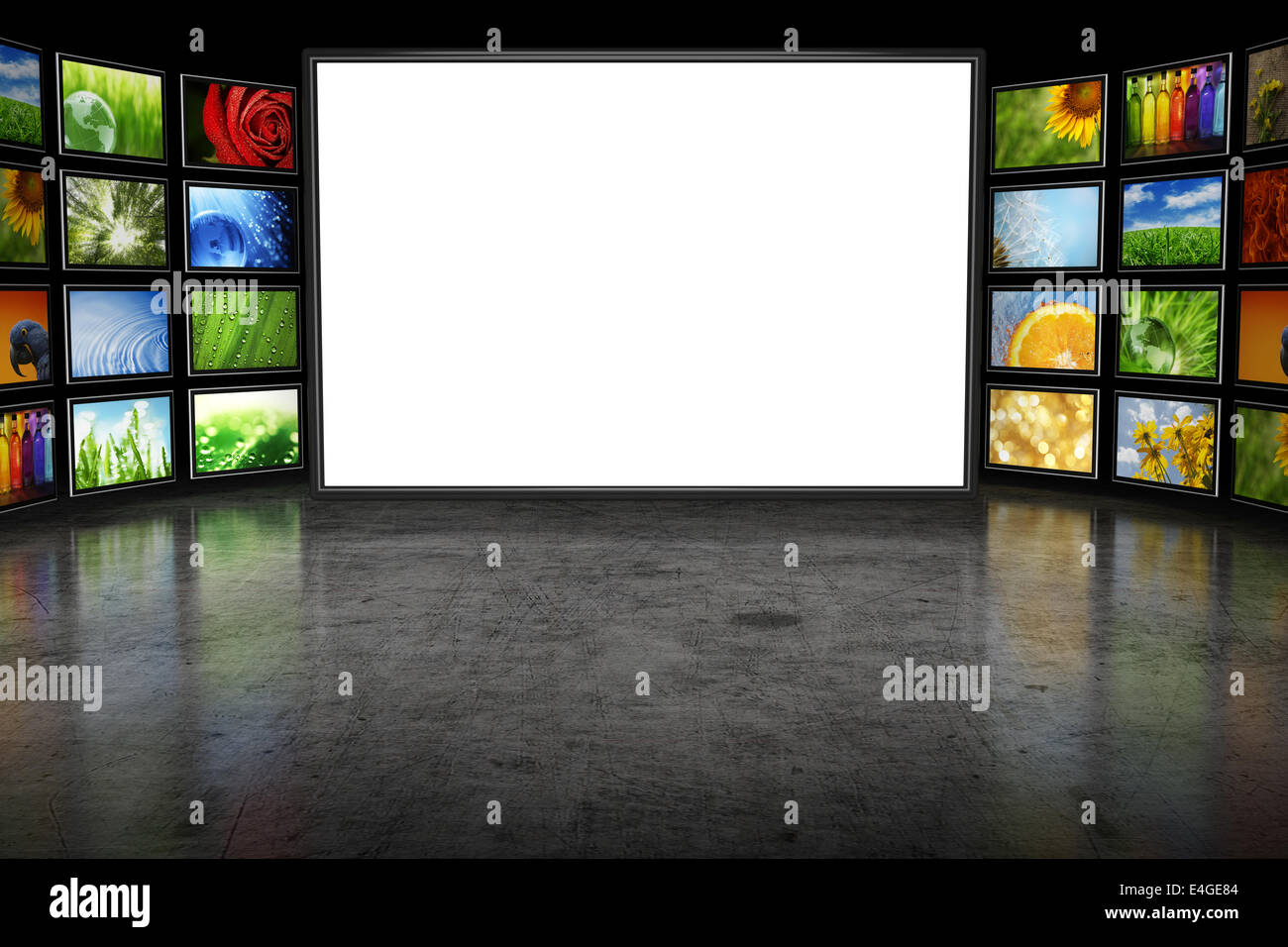 tv screeen with images stock photo 71662532 alamy