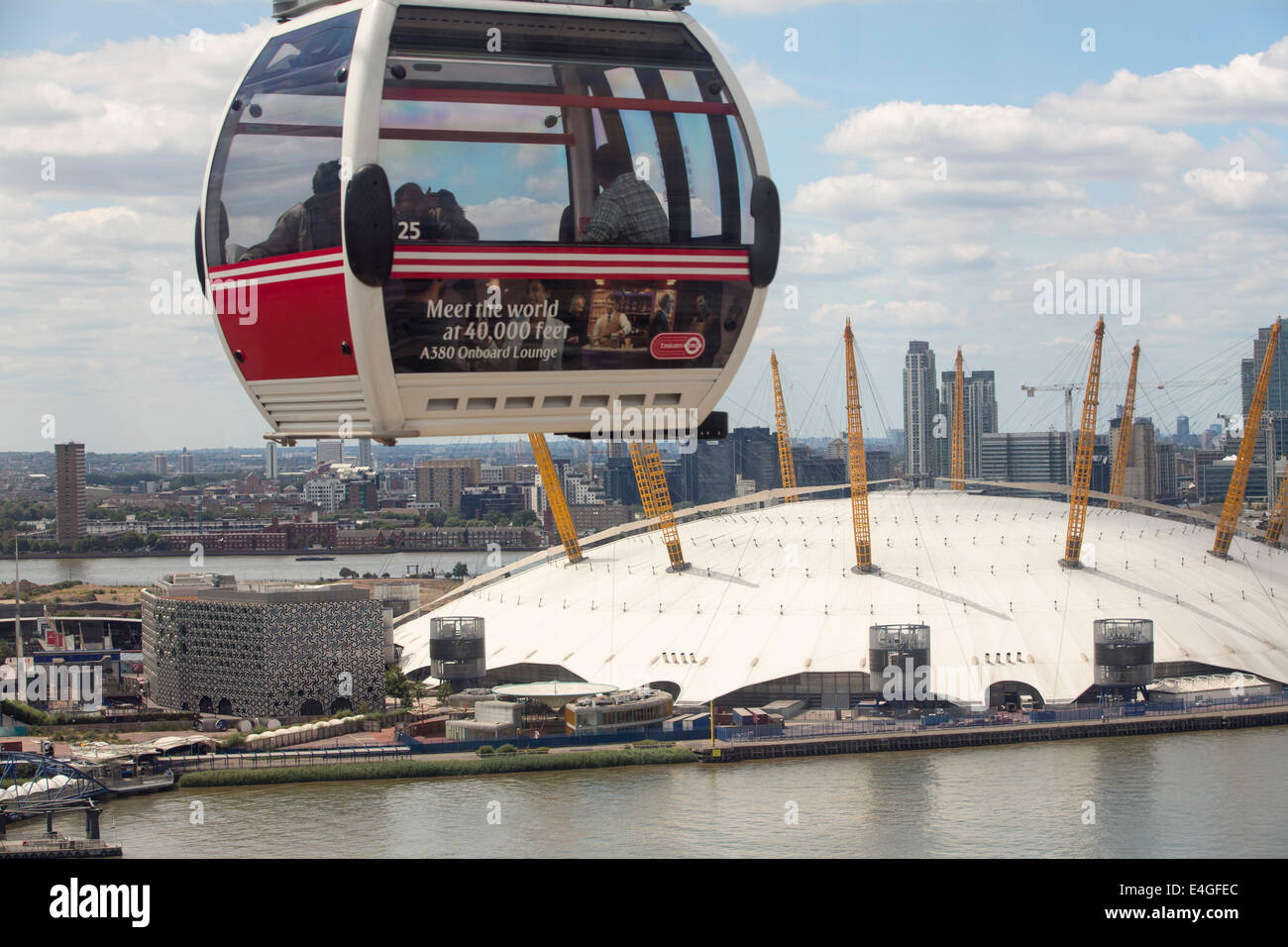 The O2 Arena on the River Thames in london, UK, it was formally the Millenium Dome. Stock Photo