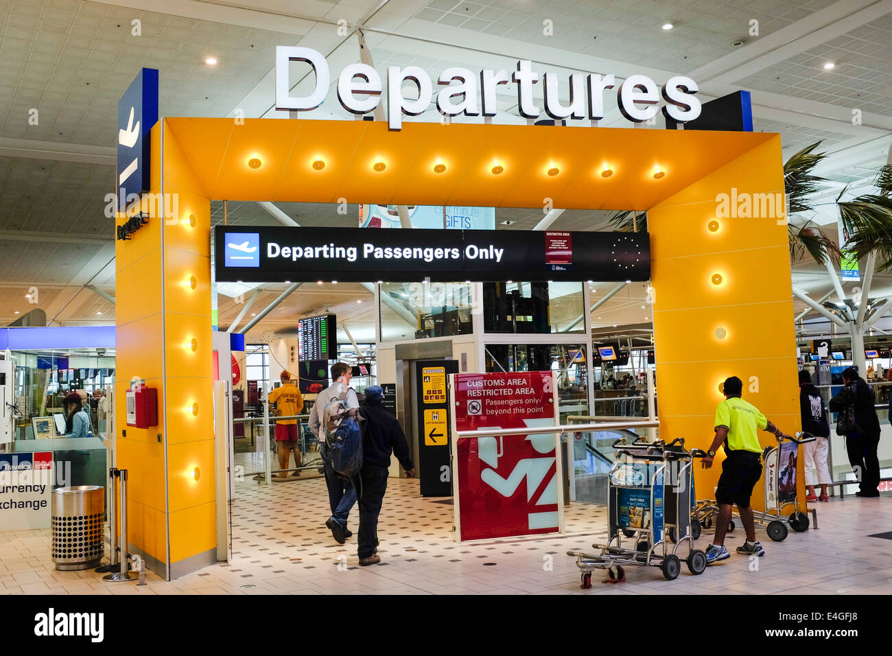 Departure gate Brisbane International Airport Australia ...