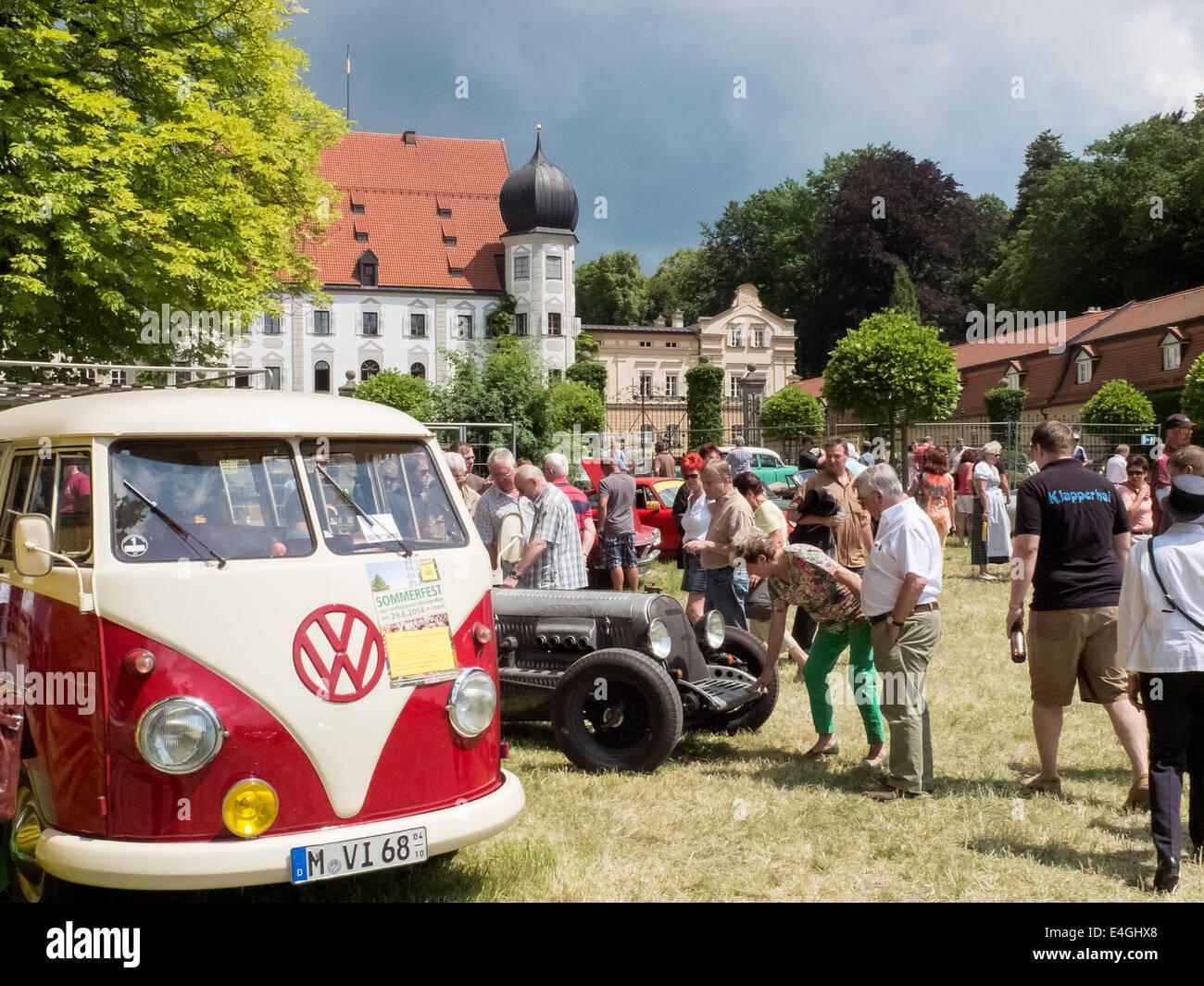 Bavarian Classic - Car Rallye at Maxlrain, Bavaria Germany 2014 Stock Photo