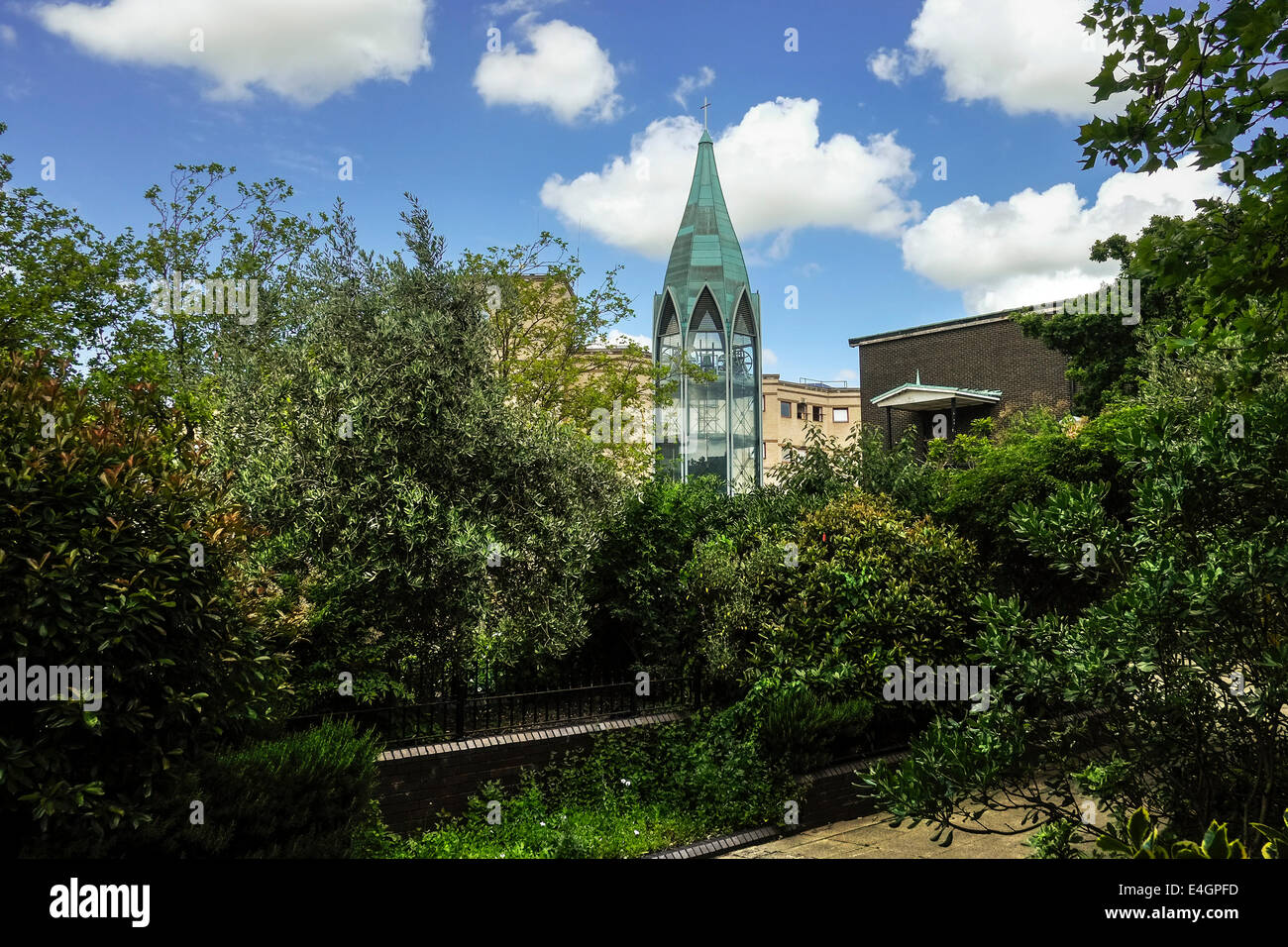 The garden in St Martins Square in Basildon Town Centre. - Stock Image