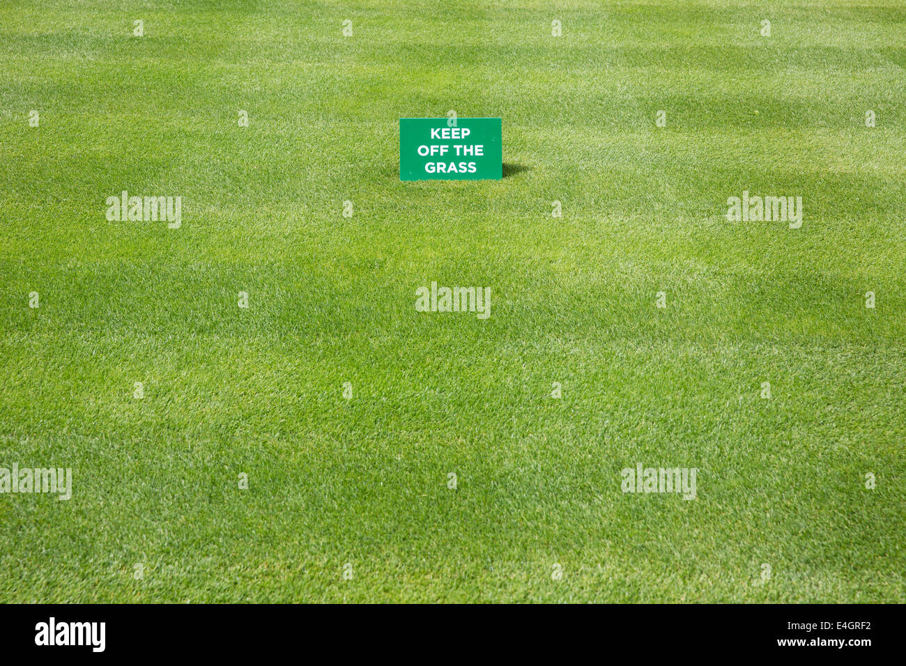 Keep off the grass sign - Stock Image