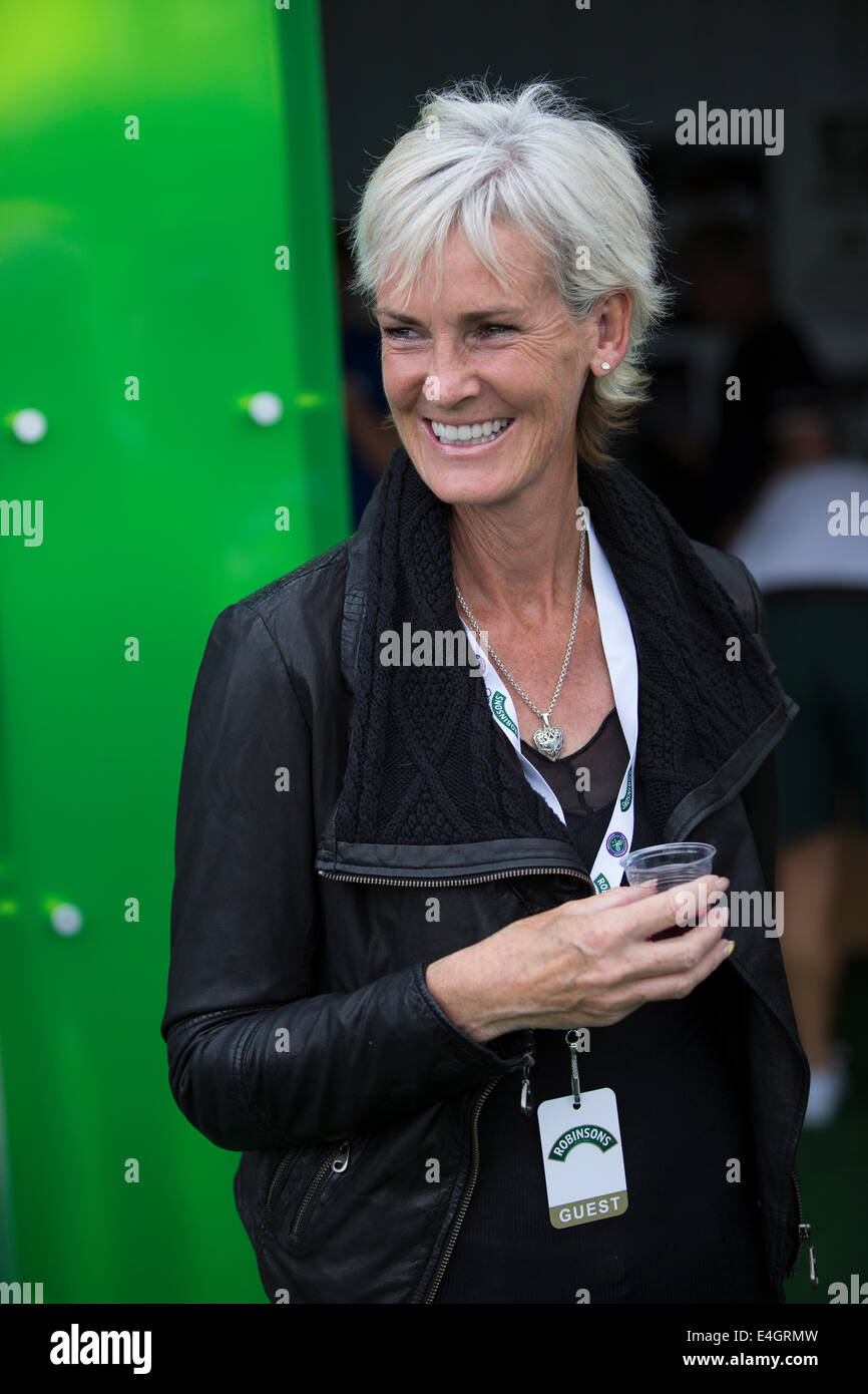 Judy Murray , mother of Andy Murray The Championships Wimbledon 2014 The All England Lawn Tennis & Crocquet - Stock Image