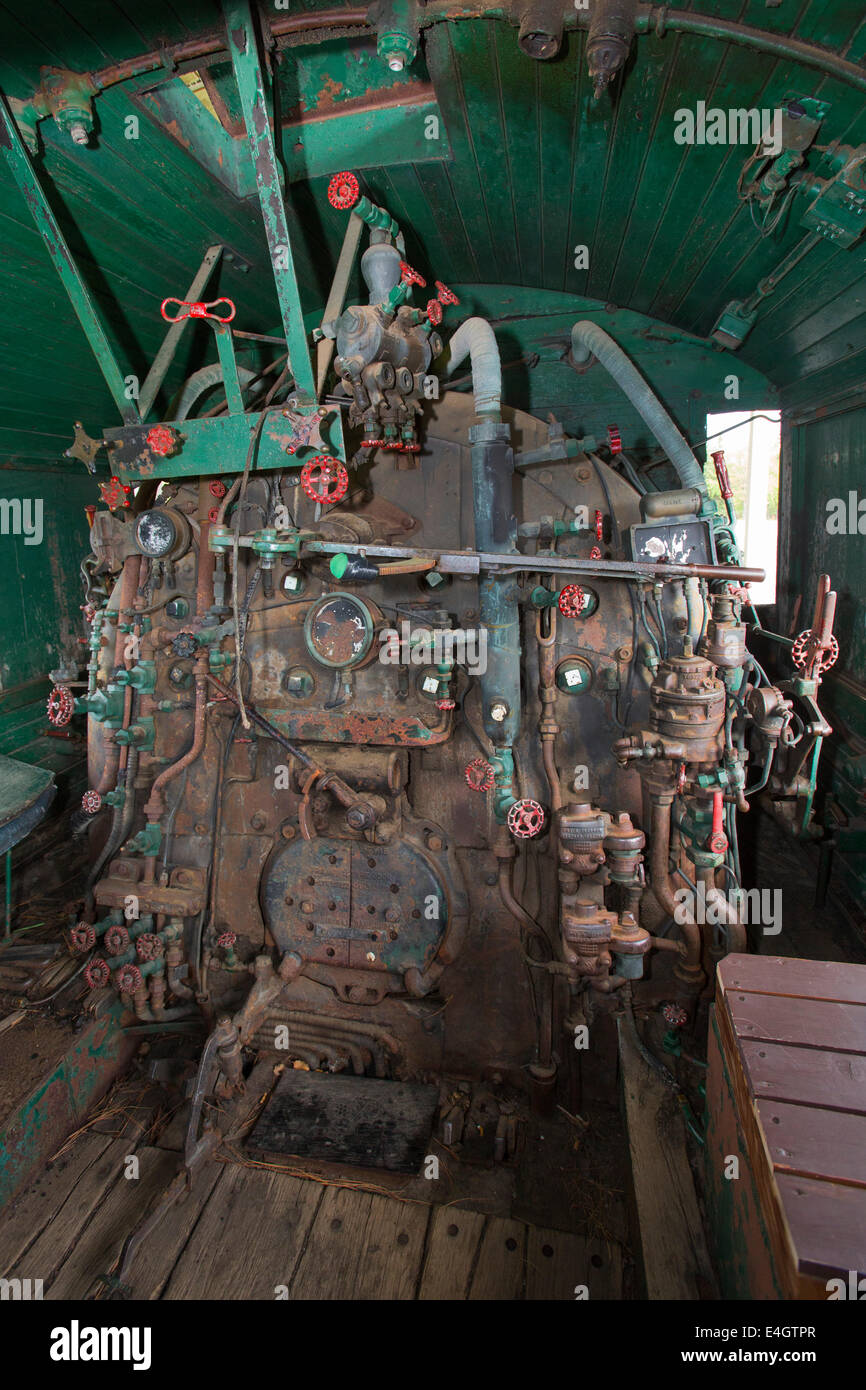 Tower, Minnesota - The inside of Locomotive 1218 of the Duluth and Iron Range Railway. Beginning in 1883, the D&IR - Stock Image