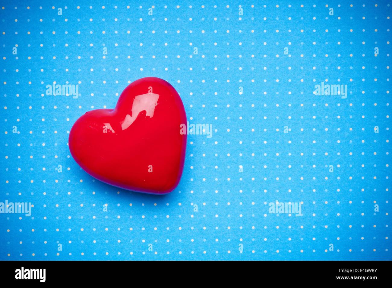 valentine heart shape, love concept - Stock Image