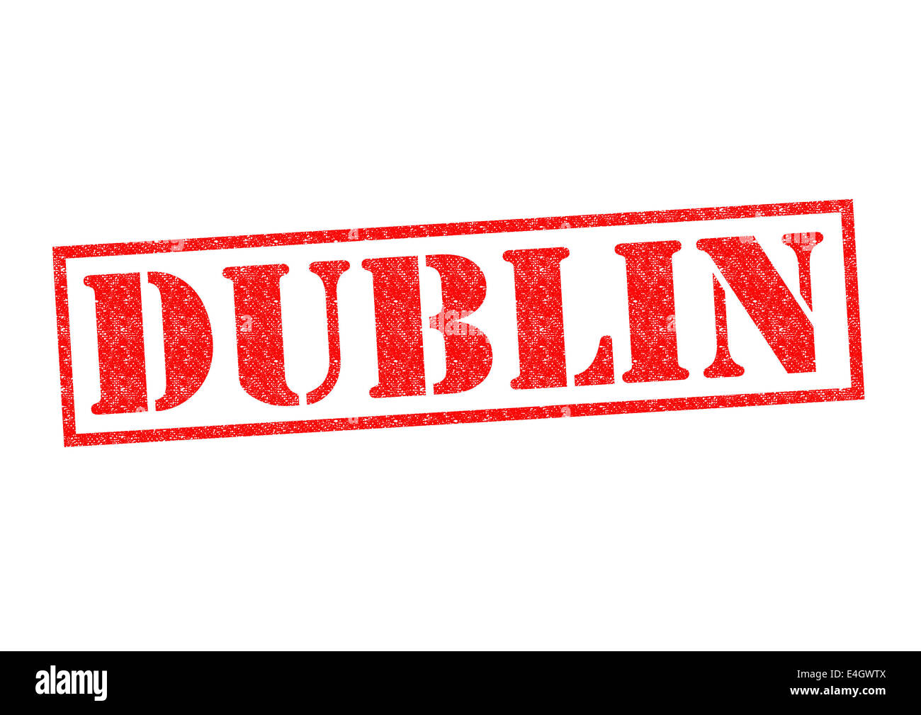 DUBLIN Rubber Stamp over a white background. - Stock Image
