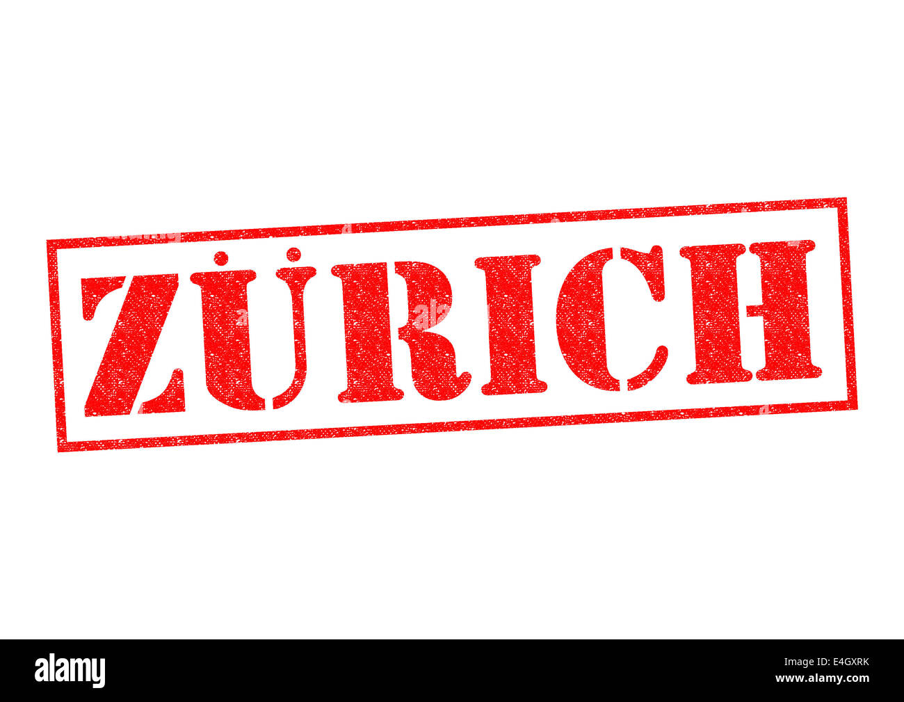 ZURICH Rubber Stamp over a white background. - Stock Image