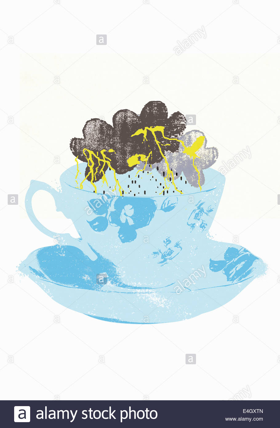 Storm in a teacup - Stock Image