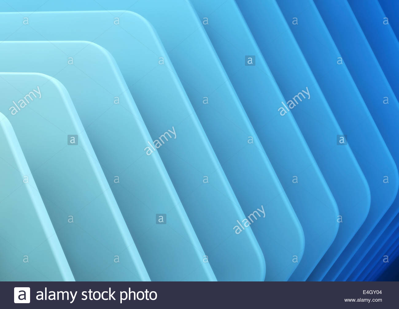 Abstract full frame blue ridge pattern - Stock Image
