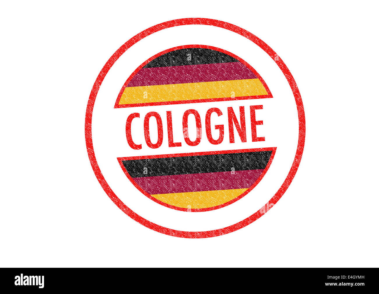 Passport-style COLOGNE rubber stamp over a white background. - Stock Image