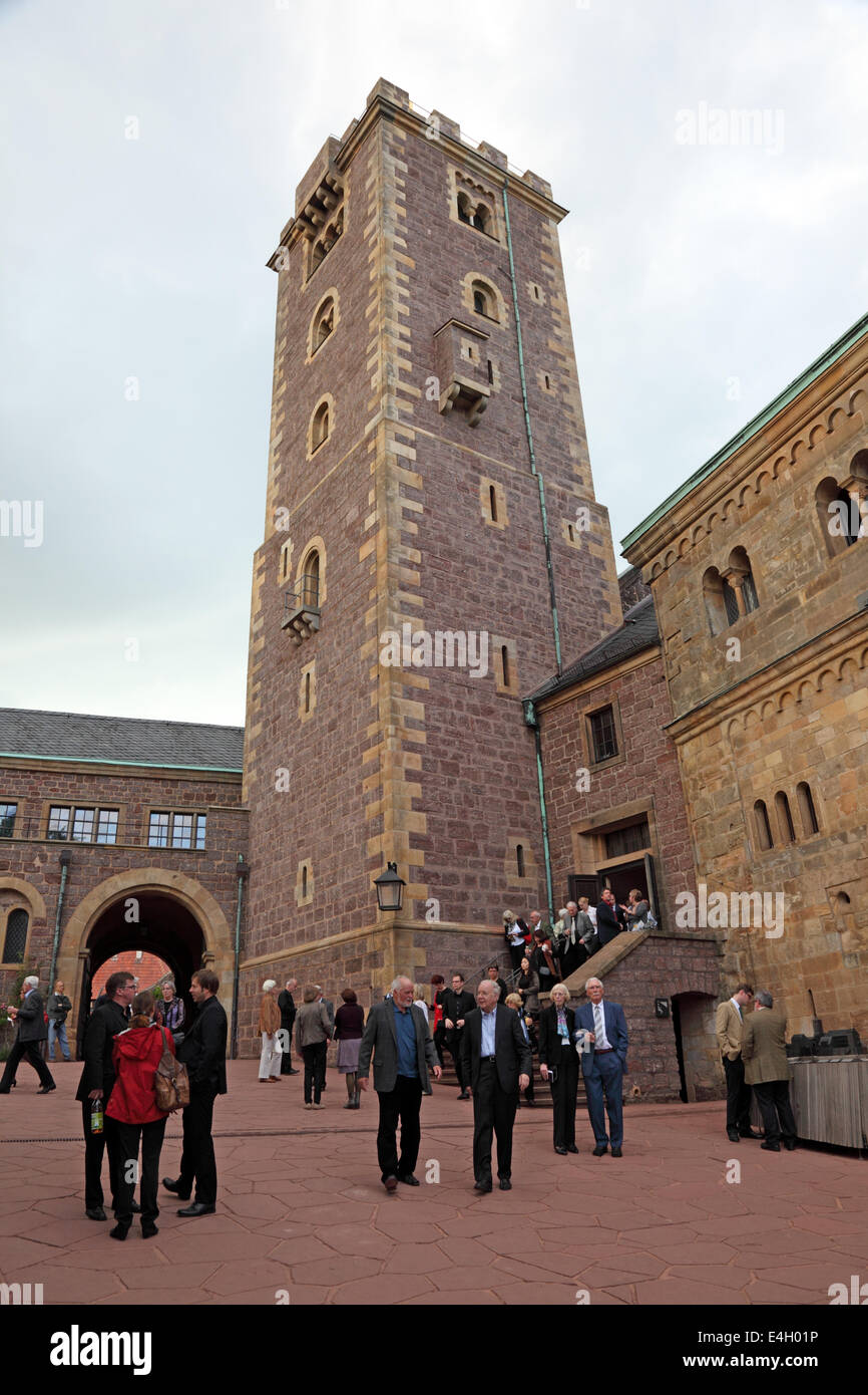 Tower at the Wartburg Castle in Thuringia, Germany - Stock Image