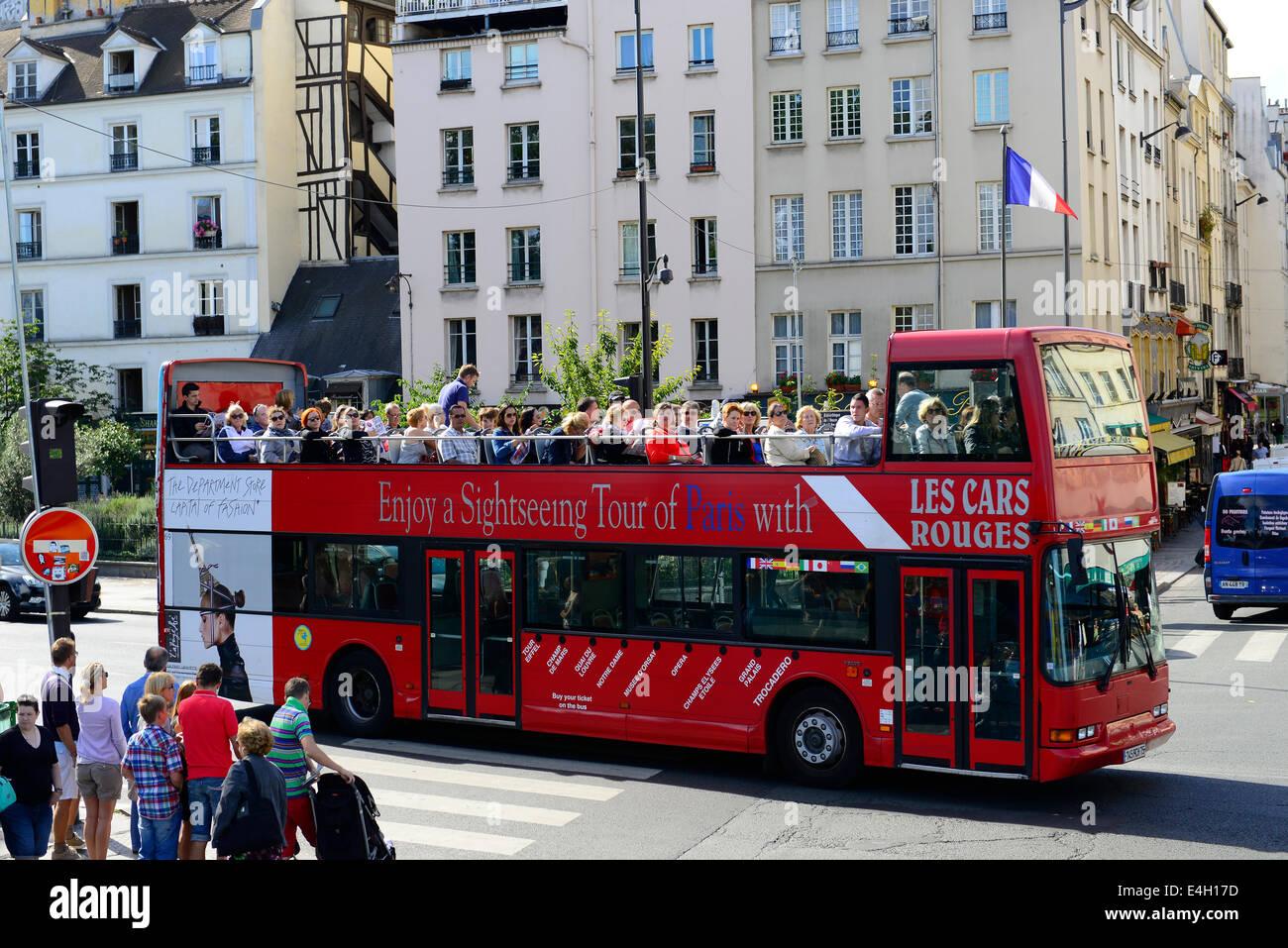 open bus tours in paris france. Black Bedroom Furniture Sets. Home Design Ideas